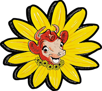 Elsie the Cow of Borden Dairy Metal Sign