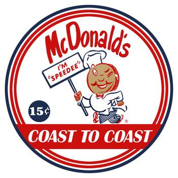 """McDonald's  14"""" Round Metal Sign"""