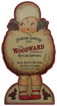 Woodward Christmas Apparel Girl Plasma Cut Metal Sign
