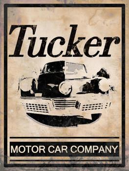 Tucker Motor Car Company Metal Sign