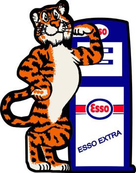 Esso Tiger Pump Plasma Cut Metal Sign