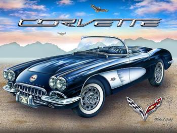 Corvette in the Desert