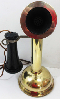 Chicago Telephone Company Oil Can Brass Candlestick Telephone Circa 1900's