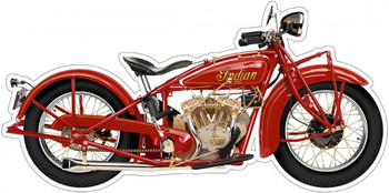 Indian Scout by Terry Pastor  (large) Plasma Cut Motorcycle