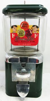 Acorn Penny Peanut / Candy Dispenser Circa 1950's Green
