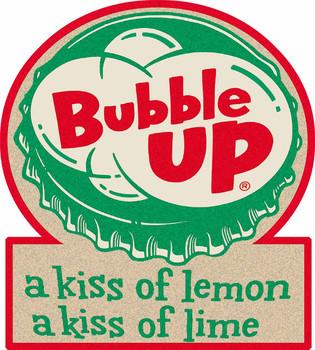 Bubble Up Soda Plasma Cut Metal Sign