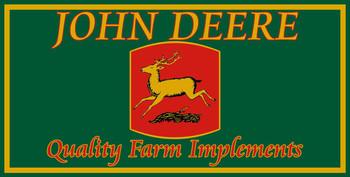 John Deere Quality Farm Implements Metal Sign