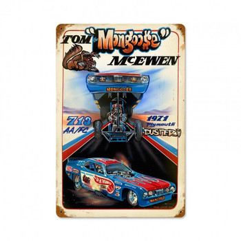 "Tom the ""Mongoose"" McEwen Hot Wheels Metal Sign"