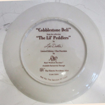 """Cobblestone Deli"" Lee Dubin Collector Plate"