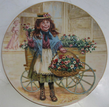 """Forget Me Nots""  Lee Dubin Collector Plates"