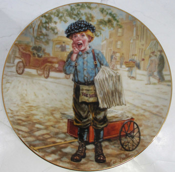 """Extra, Extra"" Lee Dubin Collector Plate"