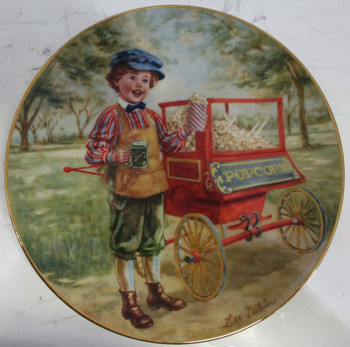 """Poppin' Corn"" Lee Dubin Collector Plate"