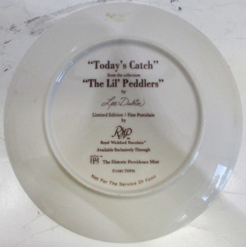 """Today's Catch"" Lee Dubin Collector Plate"