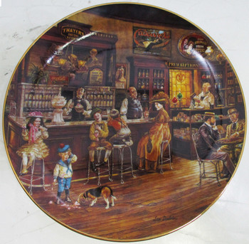 """Soda Fountain"" Lee Dubin ""Bygone Days"" Collector Plate"