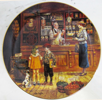 """Sam's Grocery Store"" Lee Dubin ""Bygone Days"" Collector Plate"