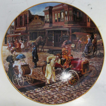 """Main Street Splender"" Lee Dubin ""Bygone Days"" Collector Plate"