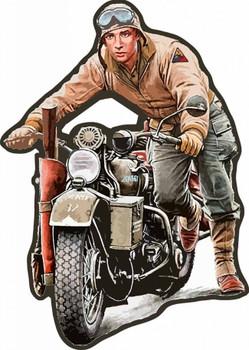 Man on Indian Motorcycle