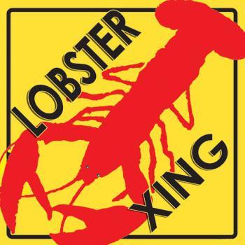 Lobster Crossing Metal Sign