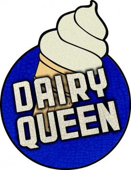 Dairy Queen Plasma Cut Metal Sign