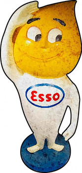 Esso Plasma Cut Metal Sign