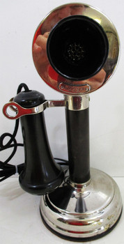 Kellogg Chrome Plated Candlestick Circa 1905