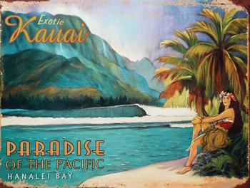 Exotic Kauai Metal Sign