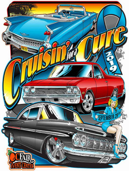 Cruisin' for a Cure 2019 Metal Sign
