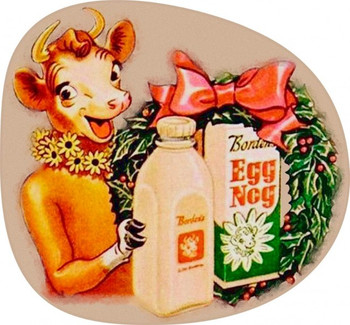 Borden Eggnog with Elsie Plasma Cut Metal Sign