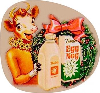 Borden Eggnog with Elsie Plasma Cut Metal Sign