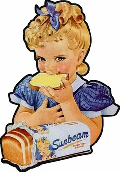 Sunbeam Enriched Bread Plasma Cut Metal Sign