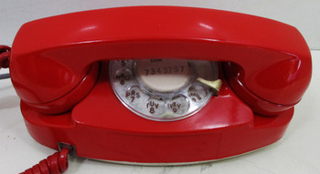 Western Electric, Bell System Corp. Red Rotary Dial Princess Phone Circa 1960
