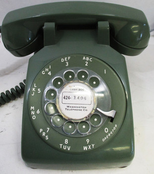 ITT Rotary Dial Model SC500D Table Telephone Circa 1950's