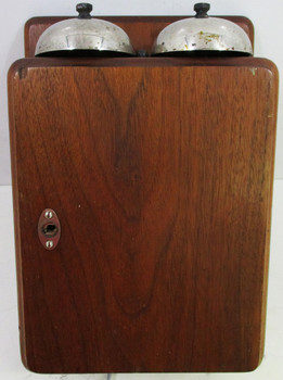 Walnut Wood Ringer Box circa 1950's