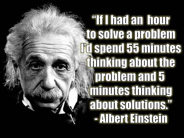 Albert Einstein Problems and Solutions Quote