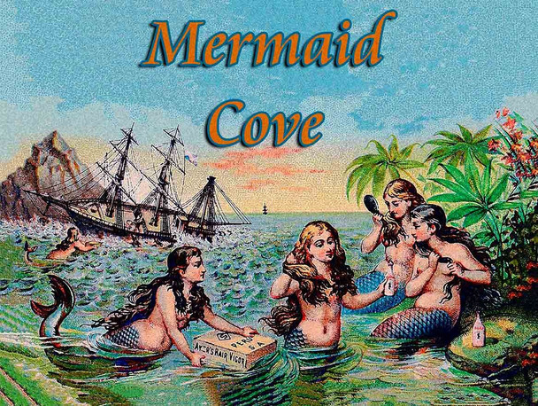Mermaid Cove Metal Sign
