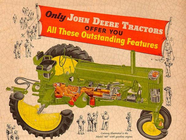 Model 60 John Deere Tractor Metal Sign