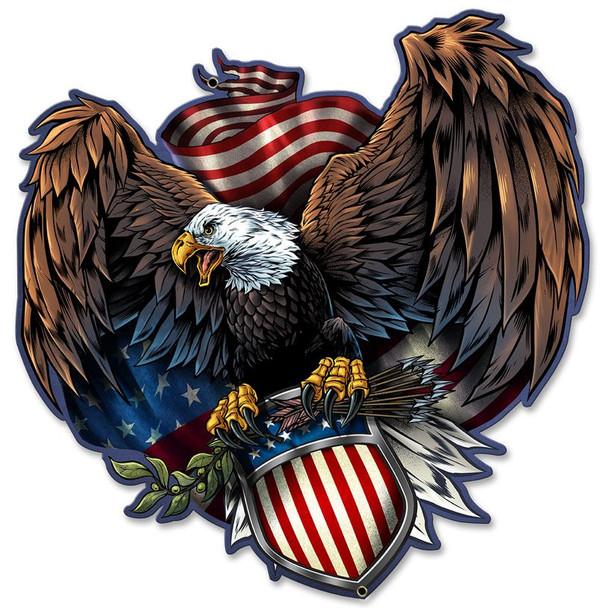 Army Eagle Plasma Cut Metal Sign