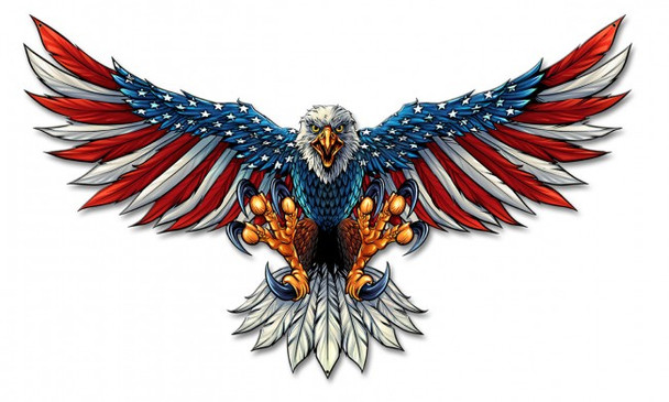 """Eagle with American Flag Wings XL 29"""""""