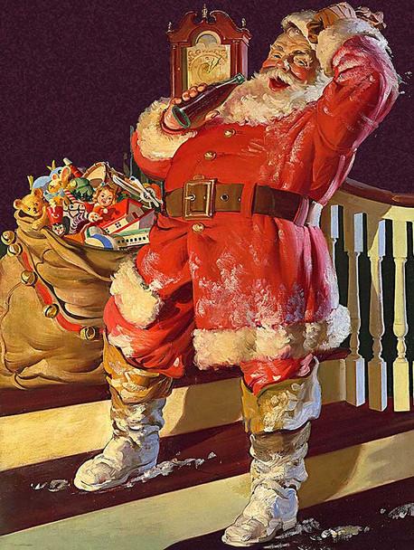 Santa Taking a Break Metal Sign