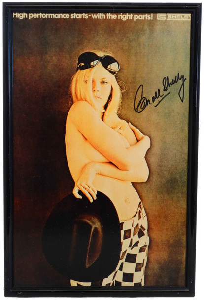 Signed Cobra Advertising Model Metal Sign by Carroll Shelby