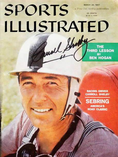 Sports Illustrated Carroll Shelby Cover Metal Sign