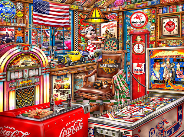 Vintage Man Cave by Michael Fishel