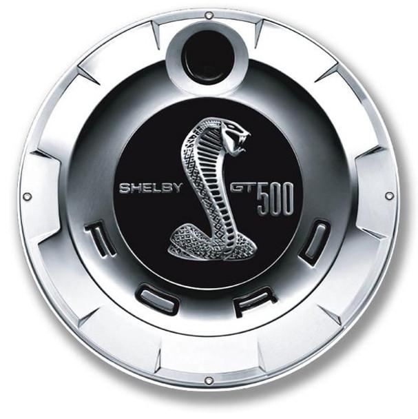 "GT 500 Gas Cap 12"" Round Metal Sign"