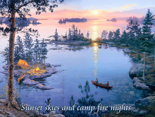 Sunset Skies and Campfire  by Darrell Bush