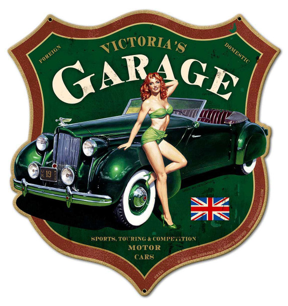 Victoria's Garage Plasma Cut Metal Sign