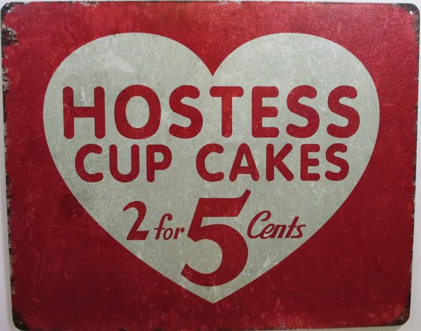 Hostess Cupcakes Metal Sign