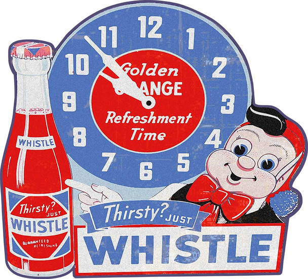 Whistle Soda Plasma Cut Metal Sign