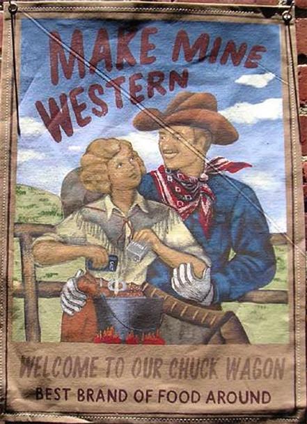 Make Mine Western Canvas