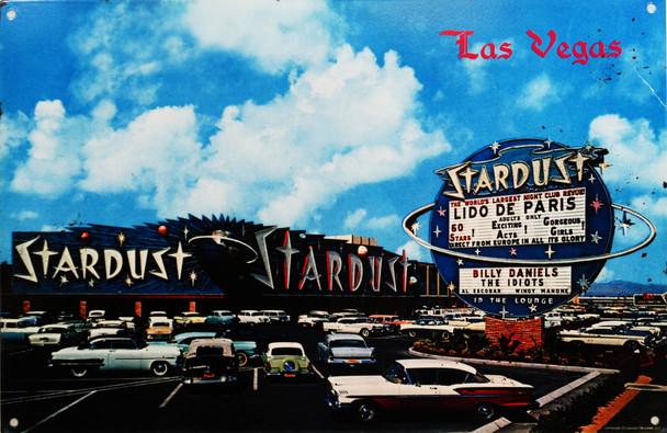 Stardust Hotel Las Vegas 1950's Metal Sign