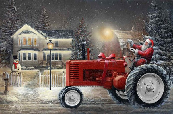 Deere Santa by Kevin Daniel